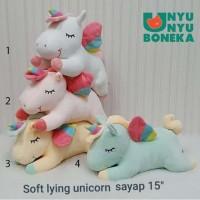 Import Boneka Soft Unicorn pony 40CM kado souvenir bantal unicorn kuda