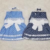 Baju Anak Bayi Perempuan Newborn Set Dress Pesta Kondangan Polkadot