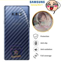 Garskin Carbon Samsung Note 9 Skin Back 3D Anti Gores Belakang