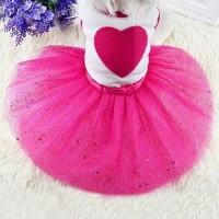 Baju dress anjing kucing model rok tutu putri motif HC508
