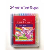 ATK0791FC 24 warna Twist Crayon Faber Castell 520624 krayon putar