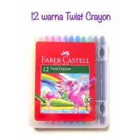 ATK0790FC 12 warna Twist Crayon Faber Castell 520612 krayon putar