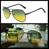 Kacamata Aviator Sunglasses Polarized Double Vision Night and Day