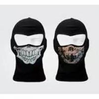 Masker ninja Balaclava motif tengkorak