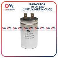 Kapasitor 10 uf MC Pompa Air Mesin Cuci Capasitor Sanyo mikro Single