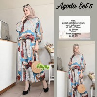 Baju setelan wanita muslim Kulot dan Blouse Ayoda Set #5