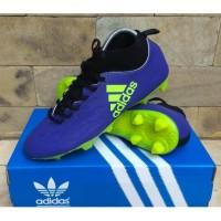 Sepatu Sepak Bola Adidas X Techfit Biru Hijau Soccer Football Import