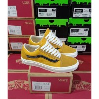 Sepatu Sneakers Pria Vans Old Skool Gold Black Premium BNIB