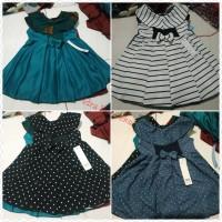 dress anak 3-4 thn Sabrina kerah puter baju anak Rini konveksi