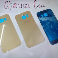 BACKDOOR/COVER BATTERY/TUTUP BATERAI SAMSUNG S6 EDGE-GOLD