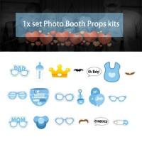 [Bayar Di Tempat]Baby Birthday Party Decorations Photo Booth Props DIY
