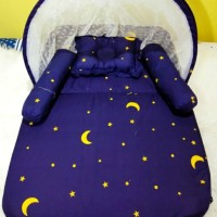 Kasur Bayi / Kasur Lipat Kelambu / Tempat Tidur Bayi BB Termurah