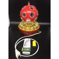Speaker Lampu Disco - Led Crystal Magic Ball Light - Merah