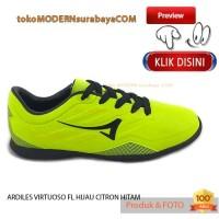 NO 37 ARDILES VIRTUOSO FL TG HIJAU CITRON HITAM Sepatu Olahraga Futsal