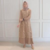 Alma Dress Brukat Terbaru Baju Gamis Wanita Termurah Gaun Pesta Promo