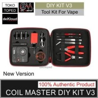 Authentic Coil Master DIY KIT V3   alat tas vape lengkap original tool