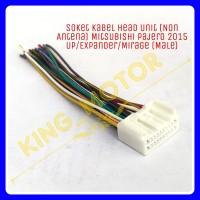Soket Kabel Head Unit (Non Antena) Pajero 2015 Up/Xpander (MALE)