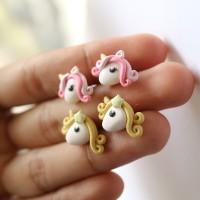 anting tusuk korea clay unicorn my little pony kuda poni