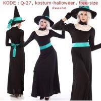 Q-27 Kostum Halloween Baju Pesta Gaun Penyihir