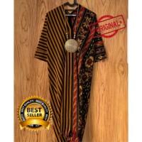 gamis kaftan batik tenun lurik baju muslim wanita