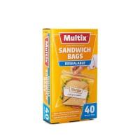 MULTIX SANDWICH BAG RESEALABLE 40pcs