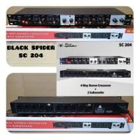 Crossover blackspider 4 way stereo sc 204 original