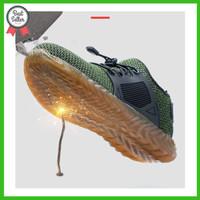 Sepatu cheetah pria king safety shoes ringan ready hijau/abu-abu/hitam