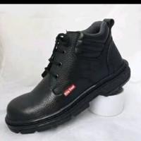 sepatu boots safety boot pendek bot pria kulit sapi asli
