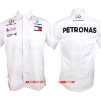 Baju Kemeja Pria F1 Mercedes Petronas 2019 Crew Kode CKD014