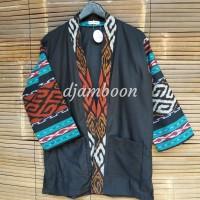outer kimono tenun etnik pria/Baju batik P22