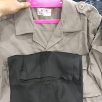 baju dan celana pdlt polri jatah asli katun