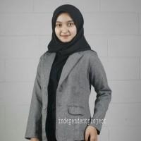 Blazer wanita/Jas wanita/Pakaian kerja wanita - Abu-abu, M