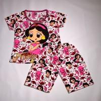 """Baju Anak LED """"jasmine Aladdin"""" - Merah Muda, S"""
