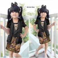 Baju Setelan Kebaya Anak Perempuan/Cewek - Setelan lala kids hitam