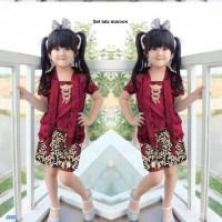 Baju Setelan Kebaya Anak Perempuan/Cewek - Setelan lala kids maroon