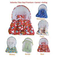 KL01 Kasur Lipat Bayi Kelambu BOBO   Kasur Bantal Guling Motif