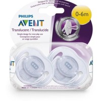 Empeng Bayi Avent Translucent Orthodontic Infant Pacifier 0-6M Isi 1