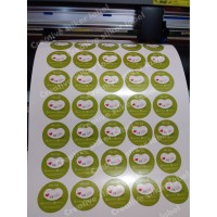 stiker label kemasan bahan cromo - Putih