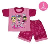 Baju Setelan Anak Perempuan Pink LOL Model B Shirton
