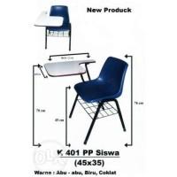 Kursi Dan Meja Belajar Sekolah/Kampus/Kursi Murah KP 401 PP + Meja