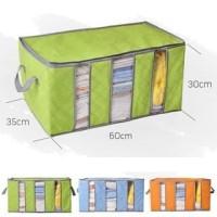 Storage bag 65 ltr/wadah penyimpan baju/maenan,chorcoal bamboo