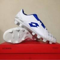 Sepatu bola Lotto Squadra Fg White Dawn Blue
