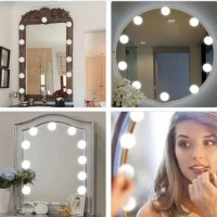 LED Bulb Mirror Light Vanity Mirror Lamp Kit Lens Headlight Bulbs Kit