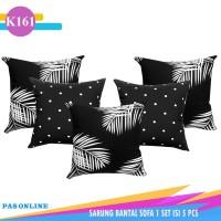 5 pcs Sarung Bantal Sofa 50 x 50 cm