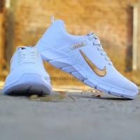 Dropship Only Cod Sepatu Nike Air Presto Putih Centang Emas
