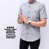 Kemeja Pria Lengan Pendek Slim Fit Baju Kantor Formal Casual Original