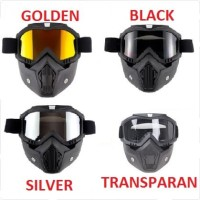 Kacamata Goggle Helm Masker Motor Set Paintball Airsoftgun Trail Cross