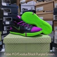 sepatu basket nike kobe AD exodus black purple green grade original