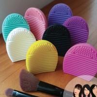 egg brush pembersih kuas foundation makeup
