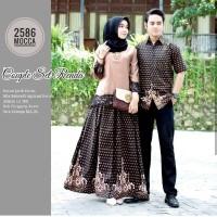 Gamis Couple Batik Baju Sarimbit Batik Renda